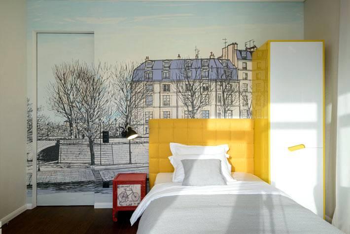 желтая мебель для оформления детской комнаты фото