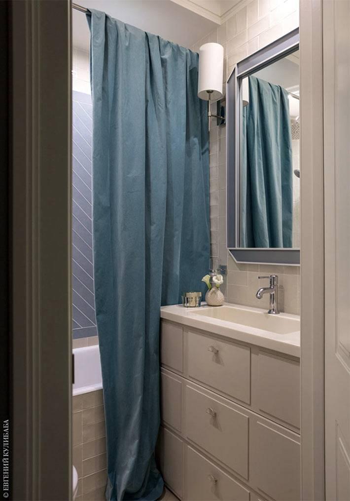 большая тумба под умывальником в маленькой ванной