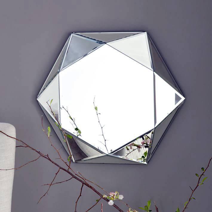объемное шестиуголньое зеркало с 3-д эффектом