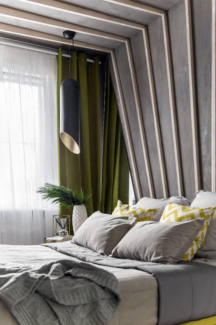 подвесные цилиндрические светильники для спальни