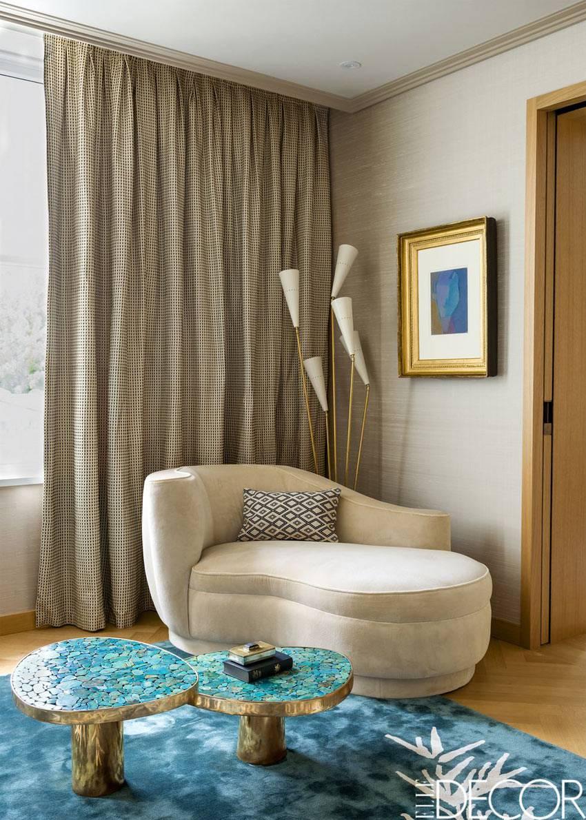 нестандартная мебель в интерьере квартиры в Лондоне