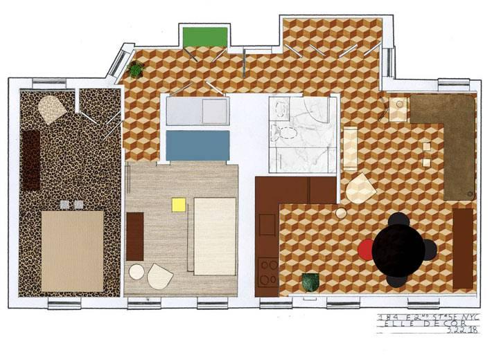 план-схема размещения мебели в доме