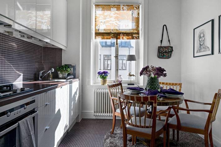 кухонный гарнитур под одной стеной на кухне фото