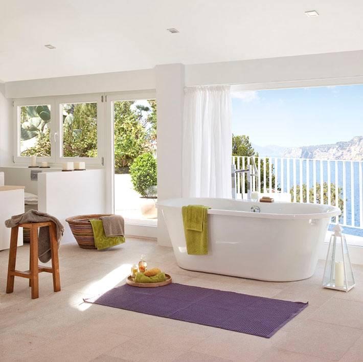 дизайн ванной комнаты в доме на морском побережье