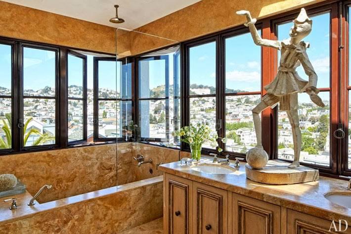красивый заоконный вид из ванной комнаты фото