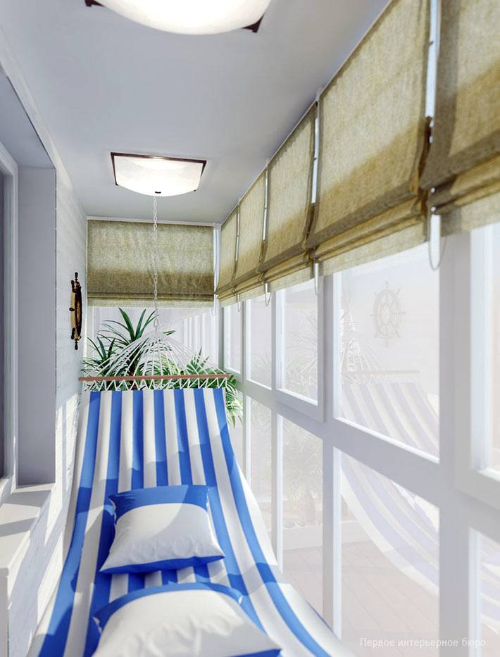 гамак повесить на всю длину балкона в квартире фото
