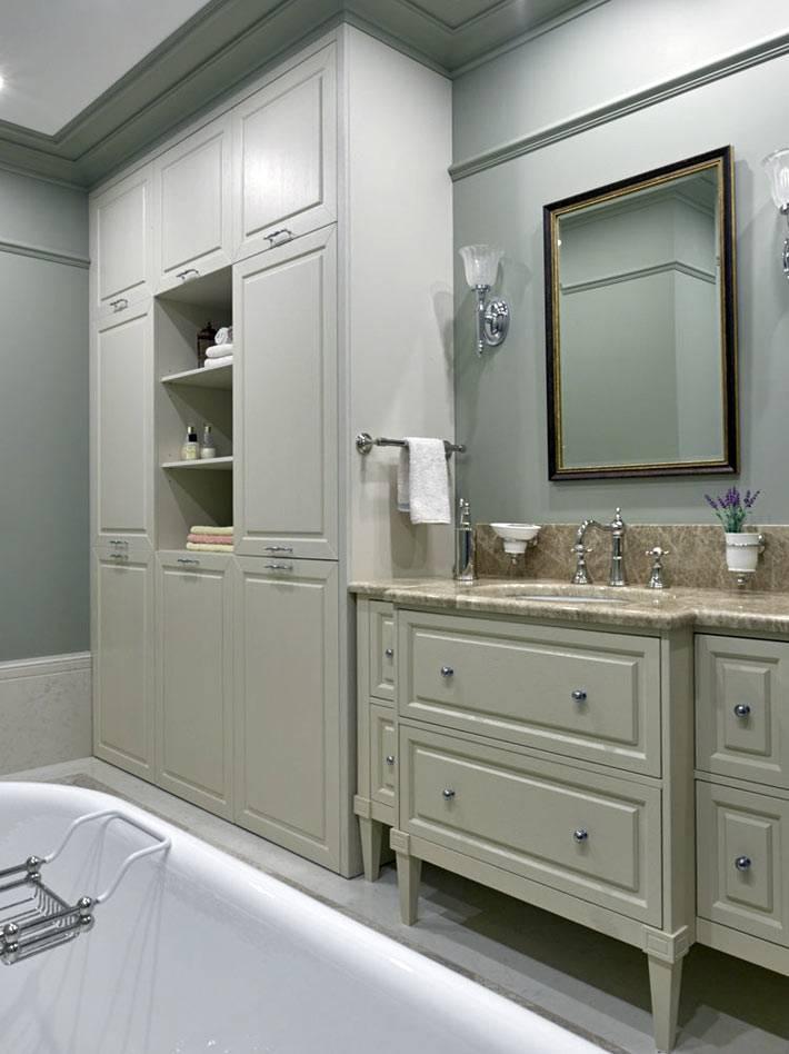 шкафы в ванной под стиральную машинку и принадлежности