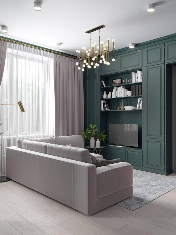 встроенные шкафы с открытыми полками для гостиной и под телевизор