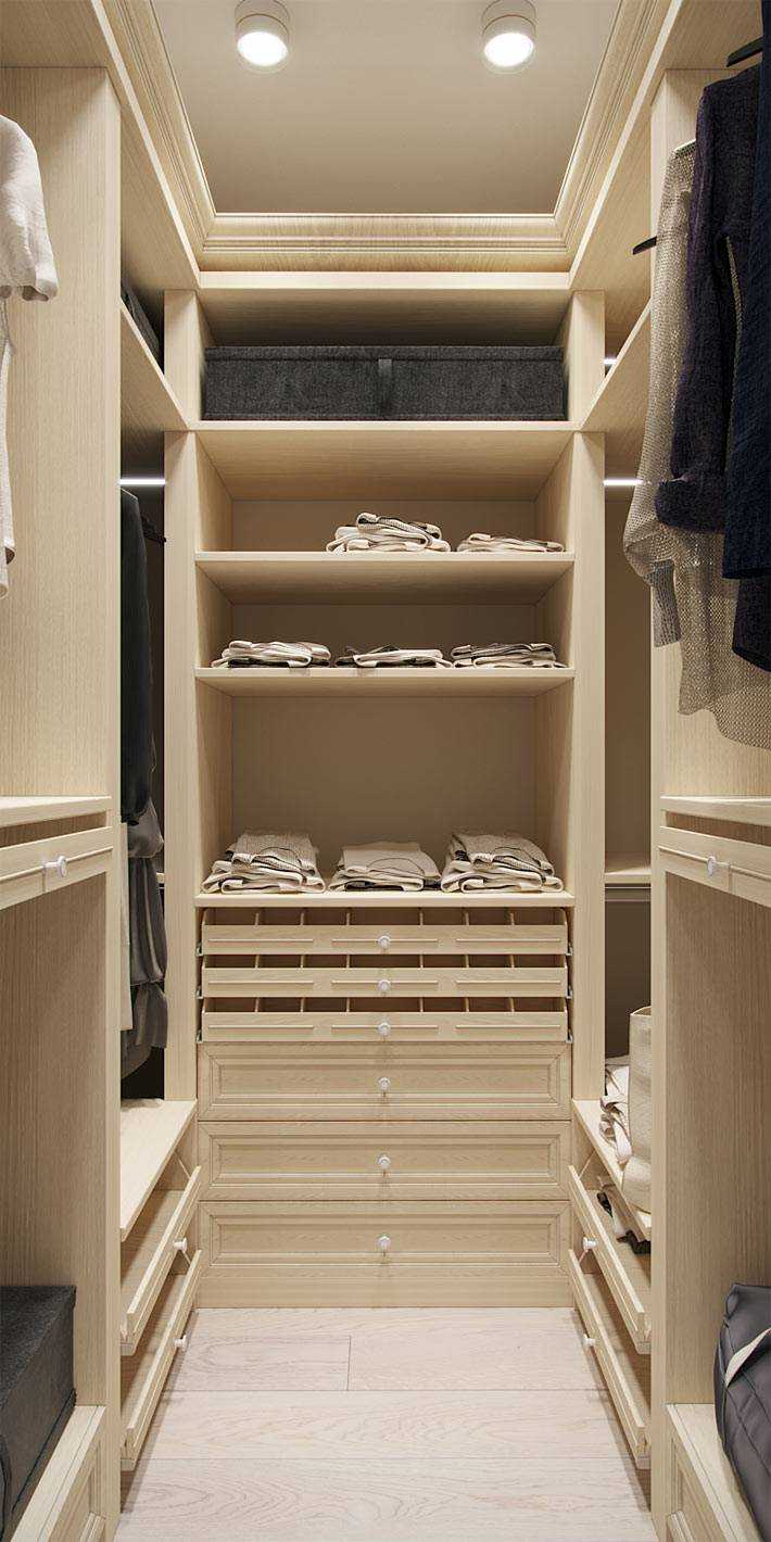 маленькая вместительная гардеробная в квартире фото