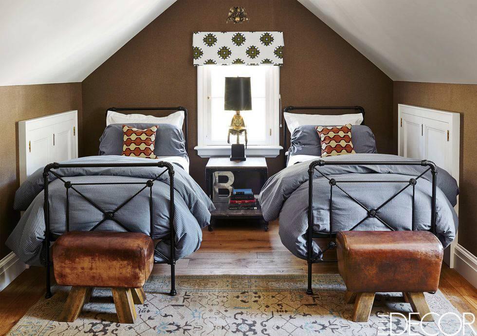 мансардная детская спальня для двух мальчиков фото