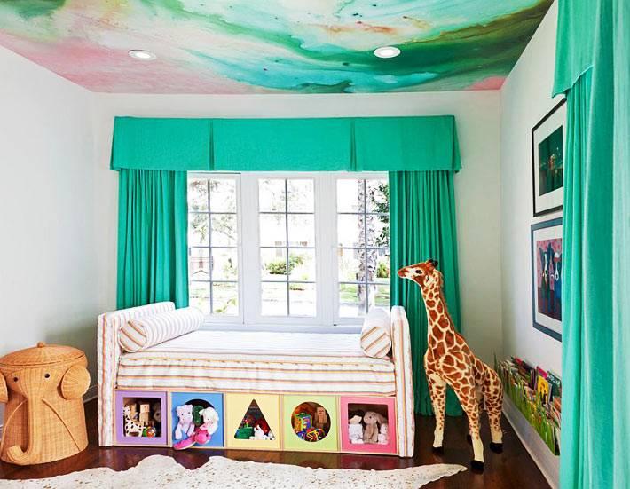 зеленое цветовое решение для оформления детской комнаты