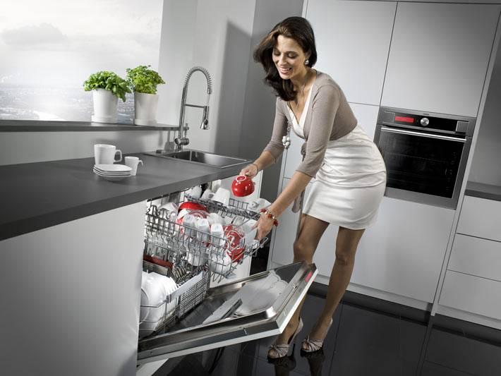 стильная современная кухня со встроенной техникой фото