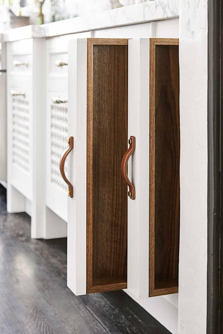 съемные выдвижные вертикальные ящики на кухне для удобства готовки