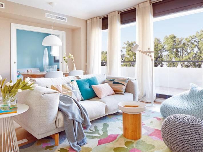 безупречное смешение пастельной палитры в интерьере квартиры фото
