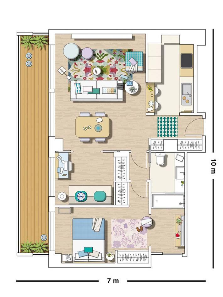 наглядная схем перепланировки двухкомнатной квартиры