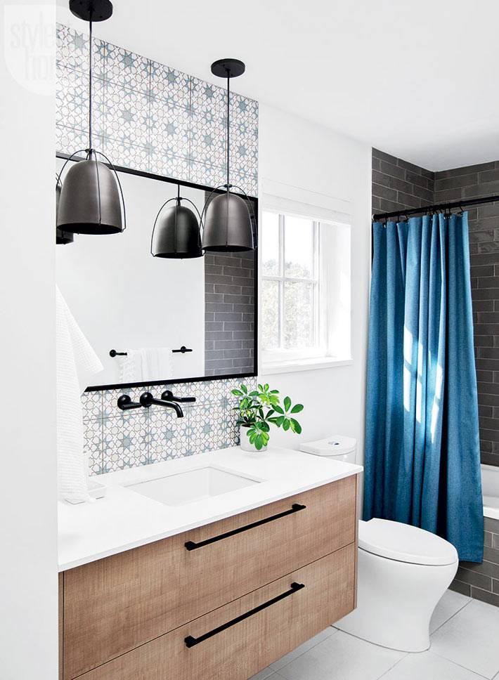 потрясающее сочетание в дизайне ванной комнаты фото