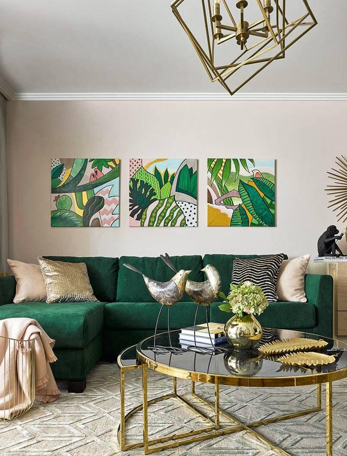 Тропическая атмосфера в дизайне московской квартиры фото