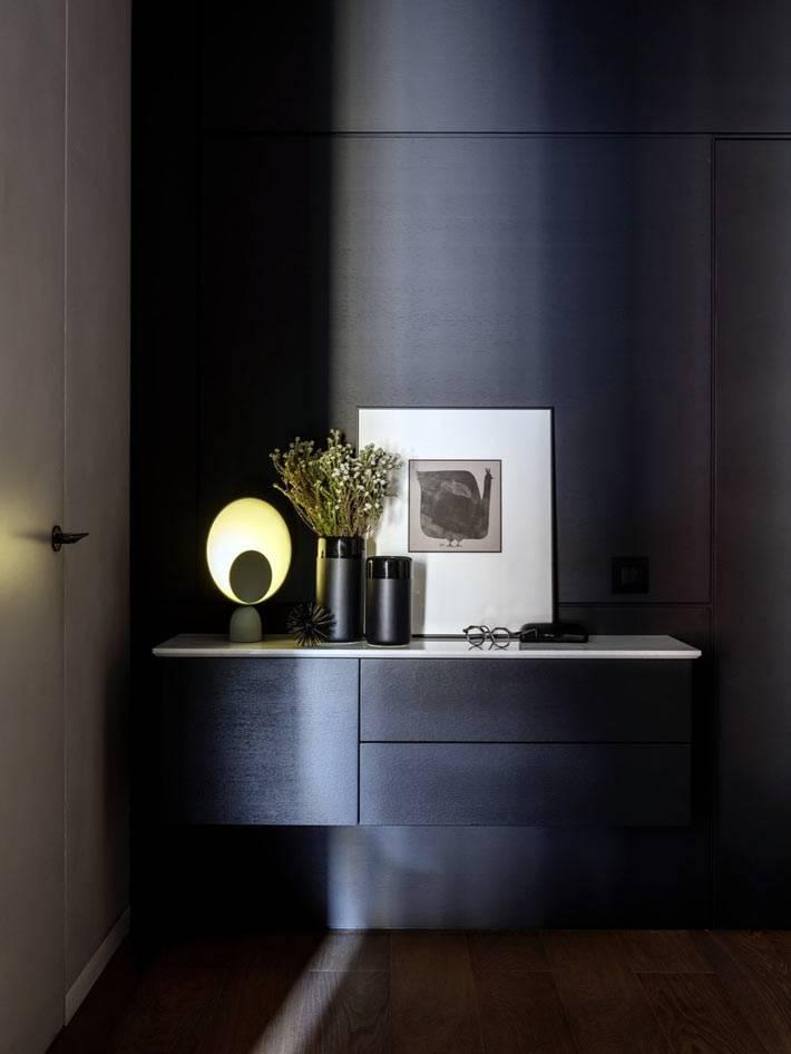 подвесные тумбочки без ножек в дизайне современной квартиры