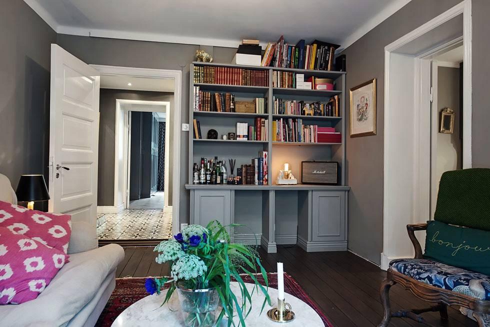 оригинальный дизайн квартиры, выдержанный в темных тонах