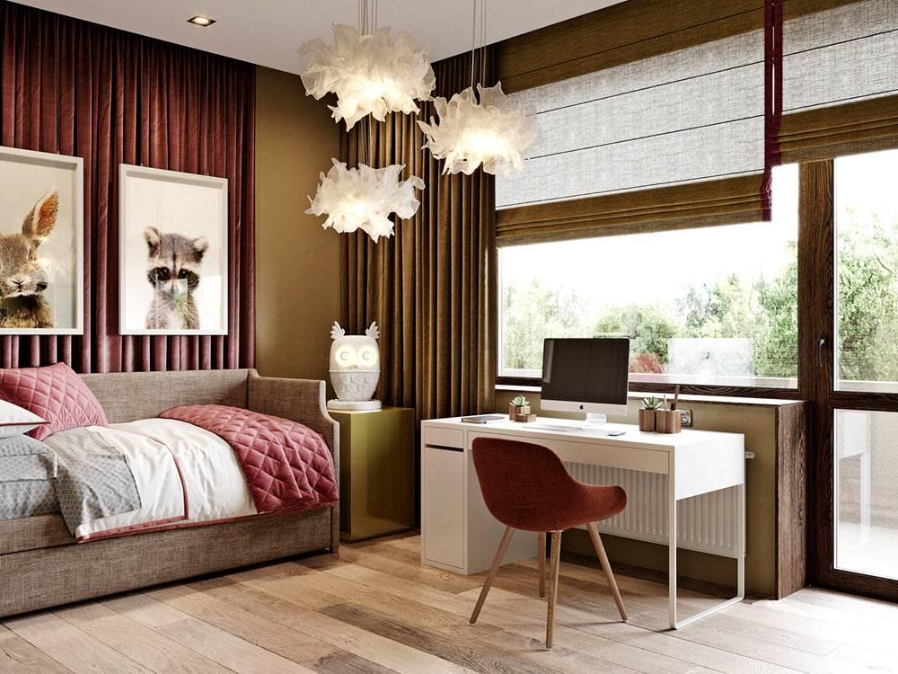 симпатичная детская комната для подростка от дизайнера Алеси Касьяненко