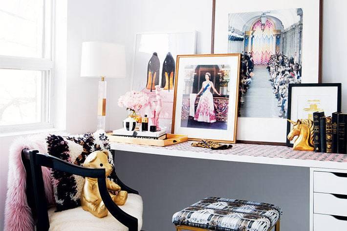 шик и гламур - основное направление в дизайне девичьей спальни