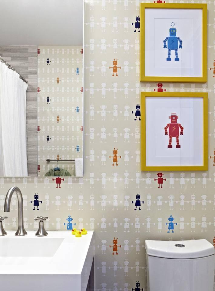 игривый дизайн для детской ванной комнаты для ребенка