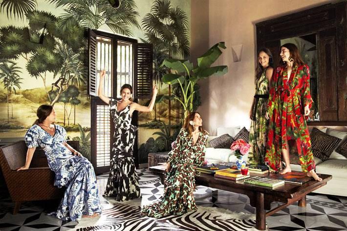 тропические мотивы в дизайне интерьера дома фото