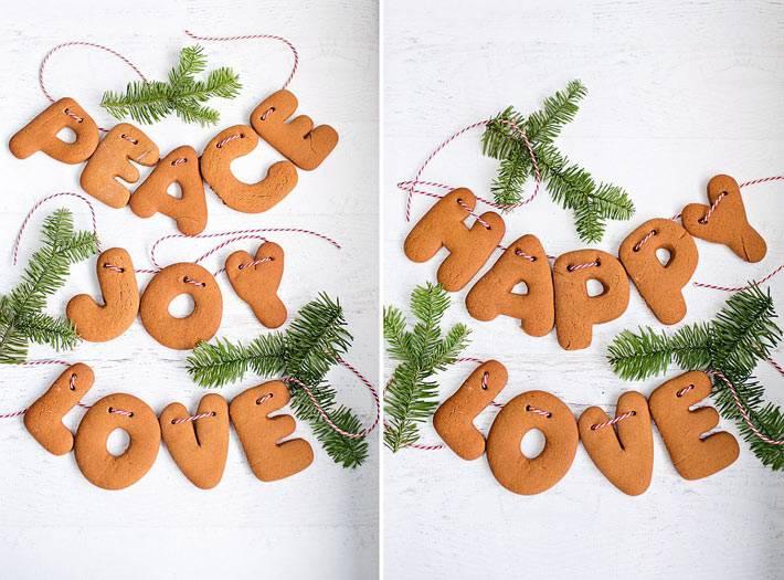 самодельная новогодняя гирлянда из печенья фото
