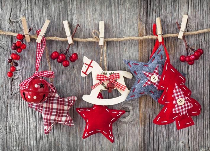 красивый новогодний текстиль из обрещков ткани