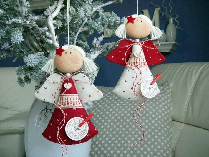 красивые ангелы с крылышками - новогодние игрушки фото