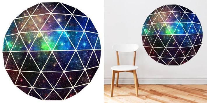 виниловая 3-д наклейка в виде земного шара и космоса