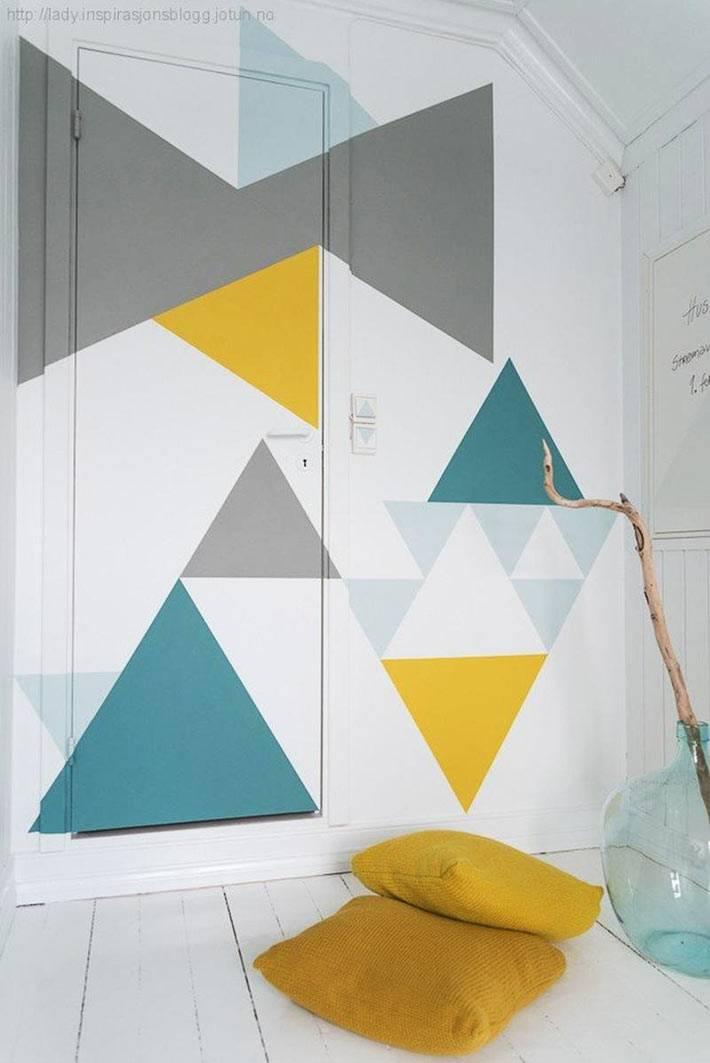 как оригинально разрисовать стены в доме фото