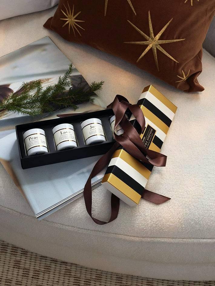 ароматизированные свечи в подарочной упаковке
