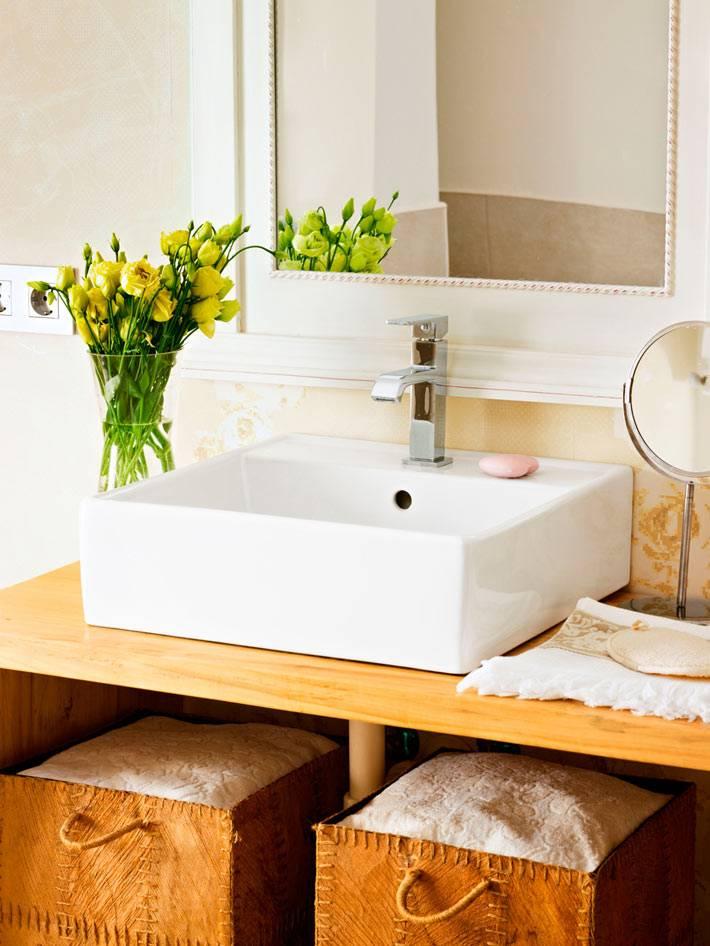 кожаные короба ручной работы для хранения в ванной комнате