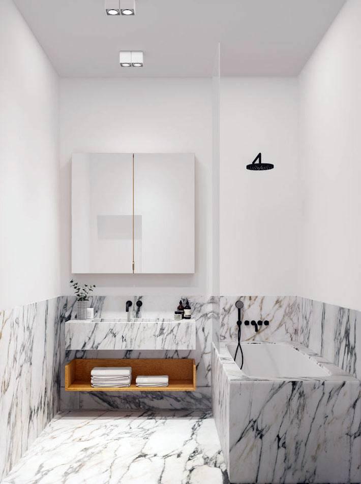 мраморная плитка для облицовки стен в ванной комнате