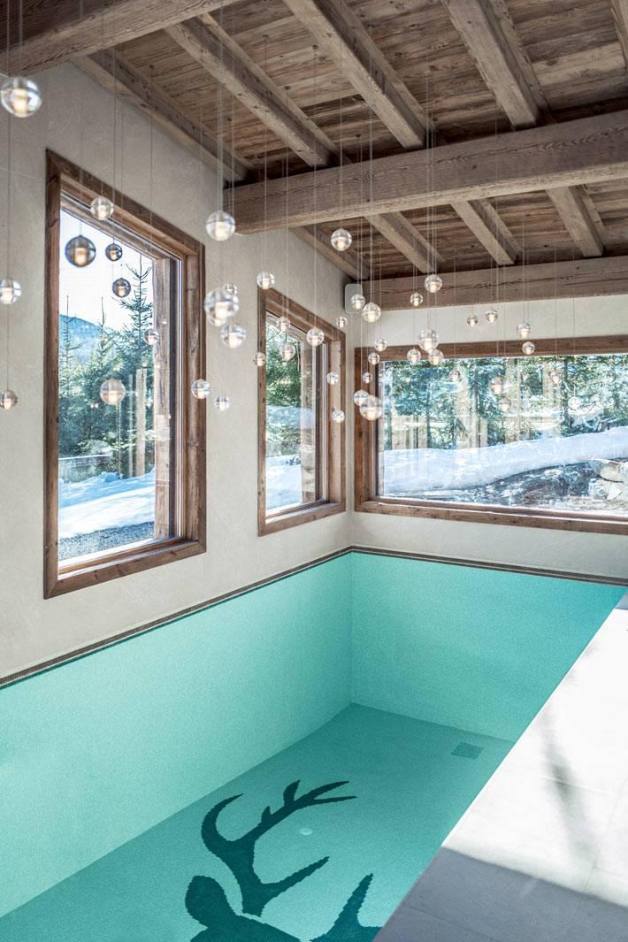 собственный бассейн в частном доме фото