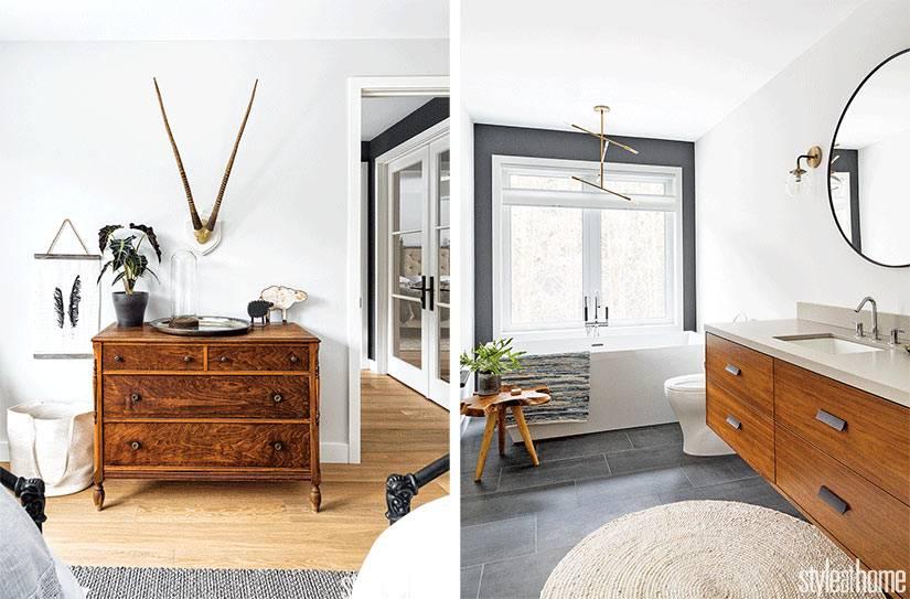 обилие деревянной мебели в комнатах делает интерьер уютным
