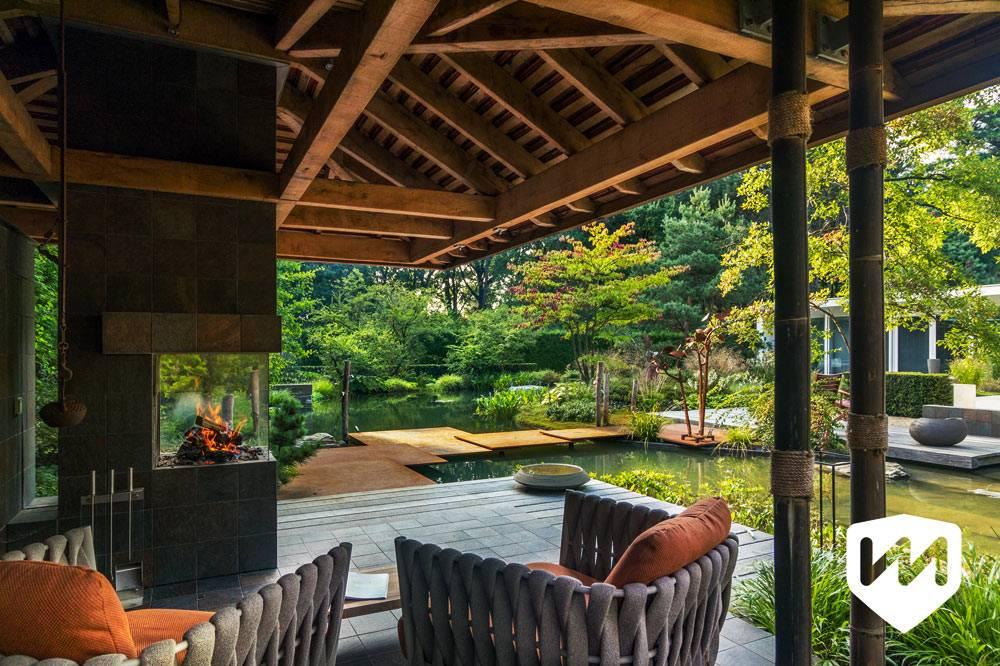 оформление двора в стиле японской философии