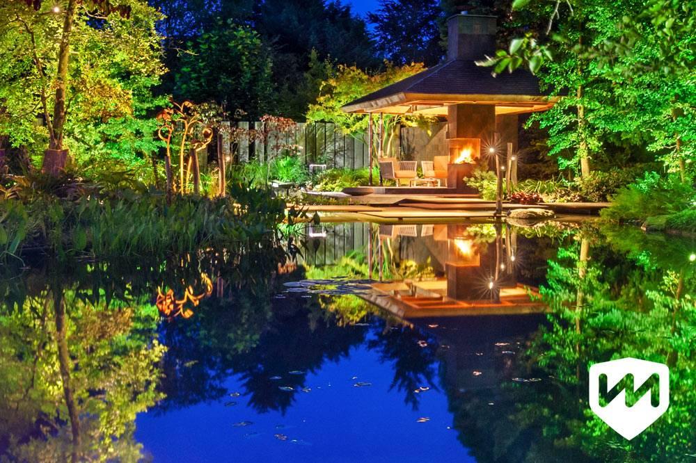 ландшафтный дизайн сада с водоемом фото