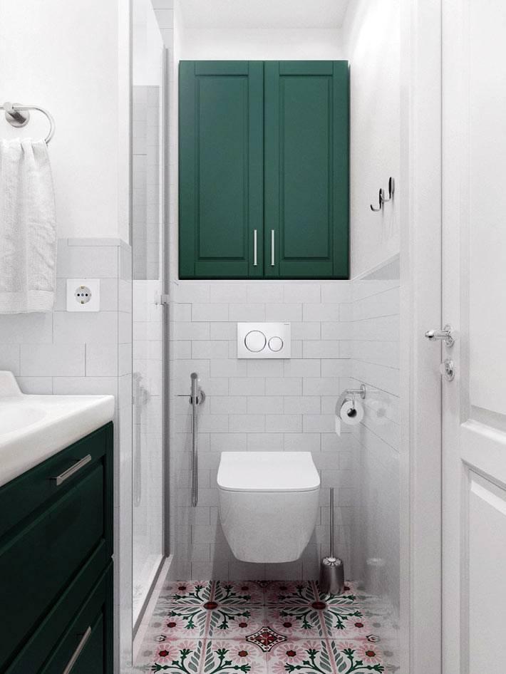 деревянная мебель зеленого цвета для интерьера ванной комнаты
