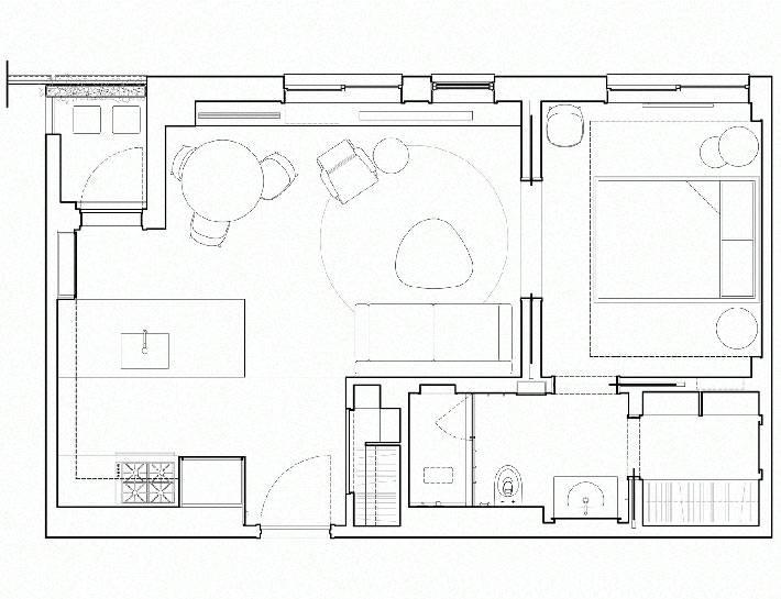 план-схема маленькой квартиры в Нью-Йорке фото