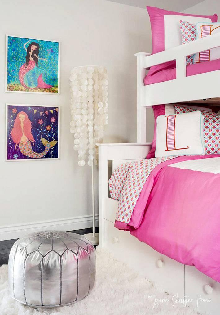 традиционный розовый цвет для оформления детской для девочек