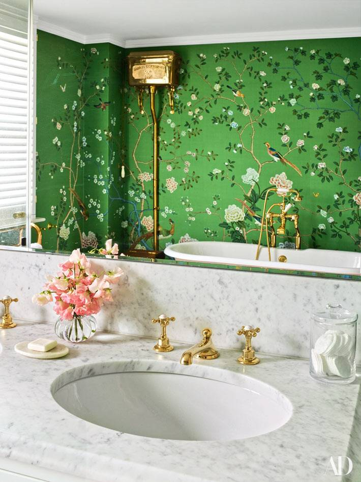 художественная роспись стен в ванной комнате фото