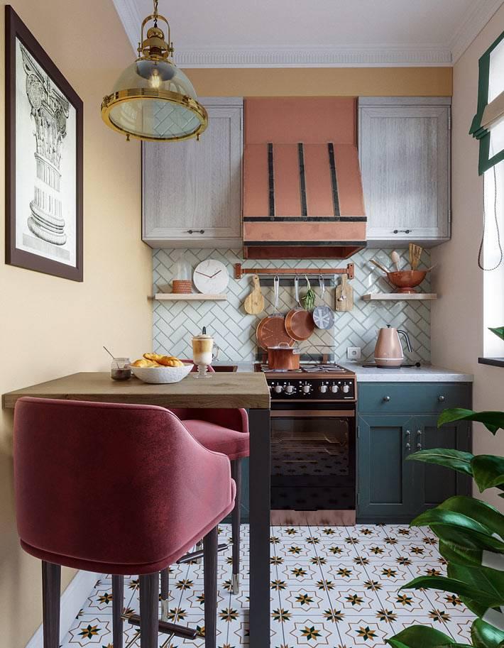 как оформить кухню в малогабаритной квартире фото