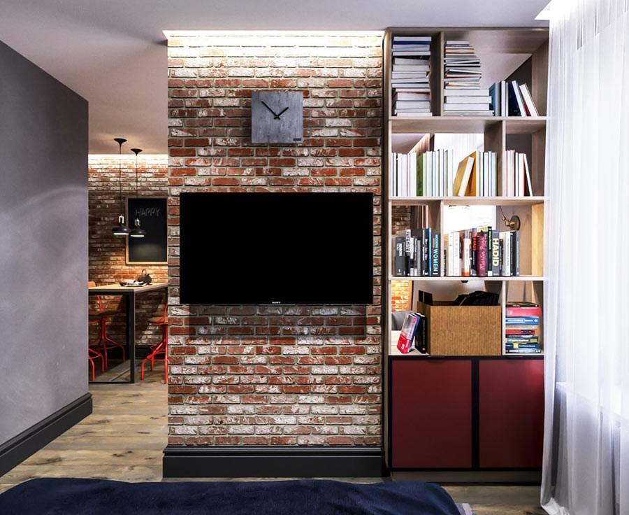 небольшая квартира-лофт для молодого студента фото
