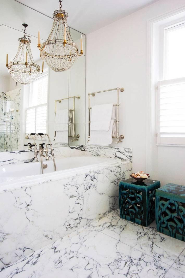 мрамор и хрусталь в дизайне ванной комнаты