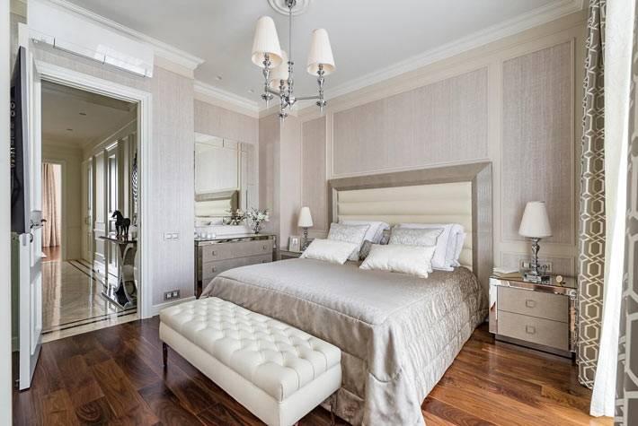 неоклассика спальни - лаконичный интерьер