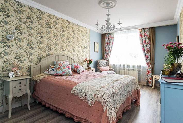 душевная спальня в стиле прованс фото