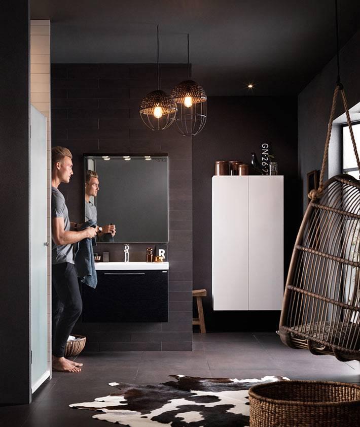 идеальное коричневое подвесное кресло для ванной комнаты