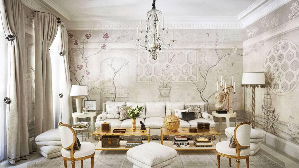 столовая в викторианском стиле с вычурной мебелью